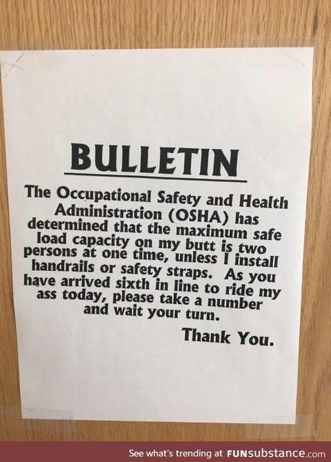 Co-worker's office door