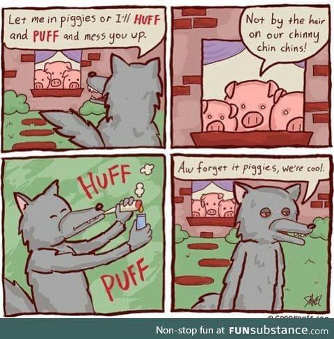 Huff puff pass it