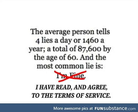 All the lies