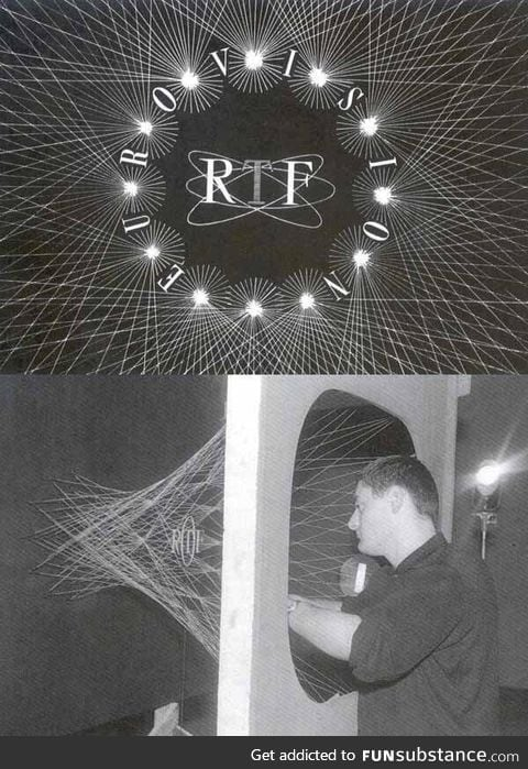 before they could make the TV logos that we see today, this is what we did