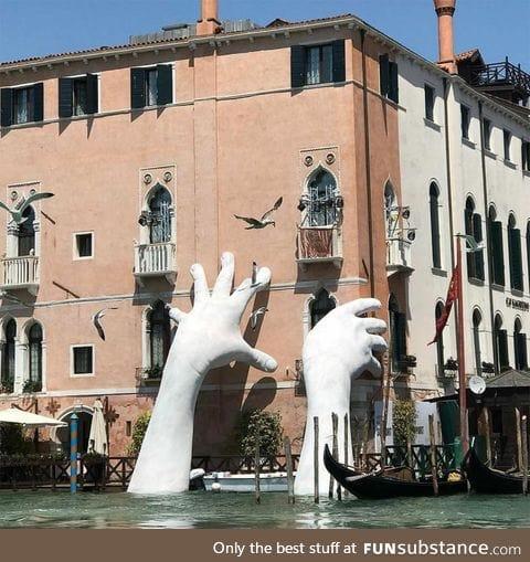 Art installment in Venice