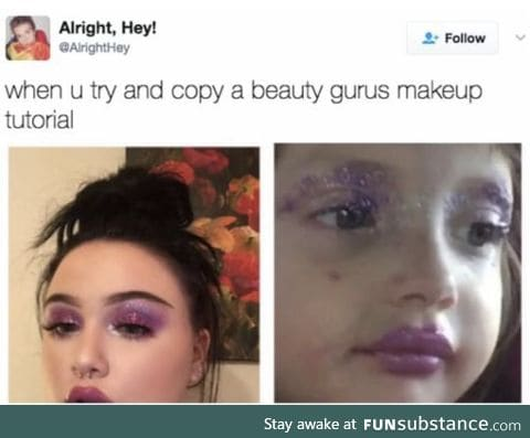 I can't do makeup