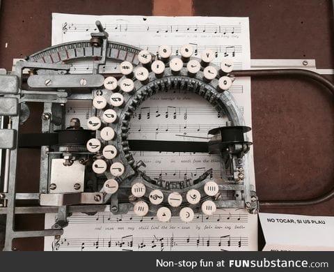 Music typewriter from 1936