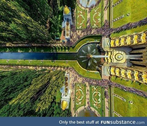 Stunning view of the Peterhof