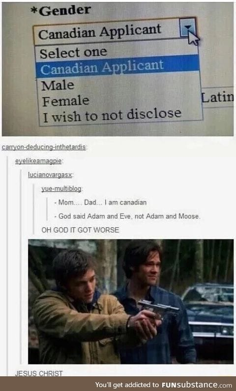 You can find Supernatural in EVERYTHING if you look hard enough.