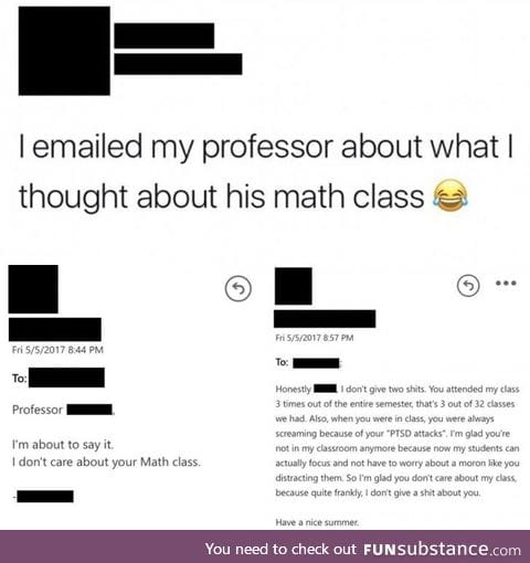 Math Professors have opinions too