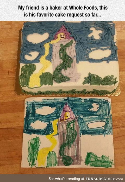 Cake From A Kid's Drawing