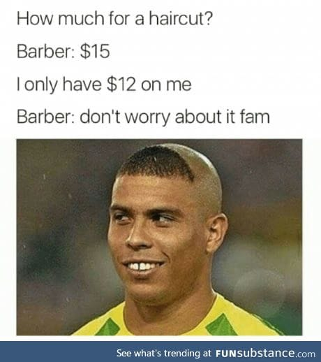 So, are we still in barber thing