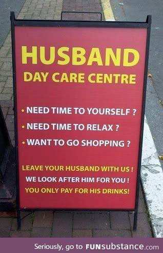 Husband day care center