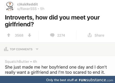 Introverts and their girlfriend