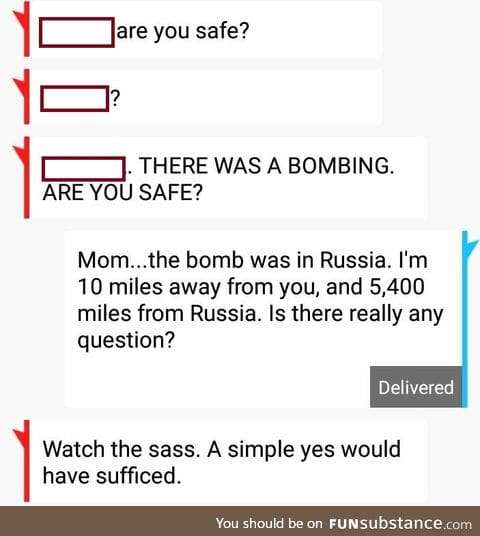 THERE WAS A BOMBING