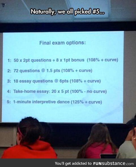 Final exam options