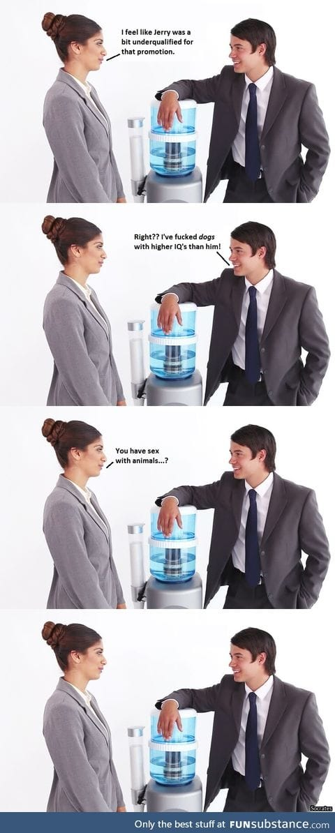Water cooler banter