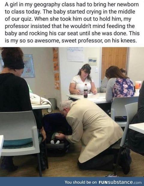 You're a good person, Professor