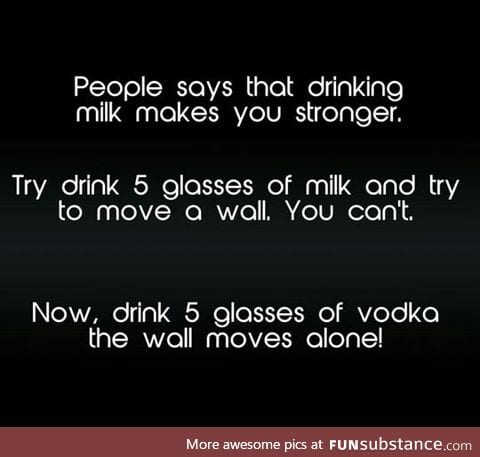Drink milk and try