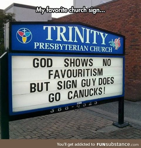 Favorite church sign