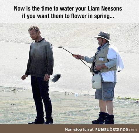 Remember to water your liam neeson