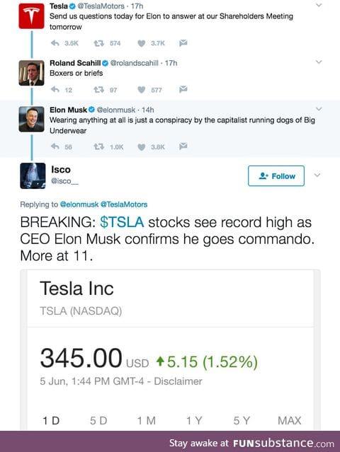 Elon Musk is like a celebrity