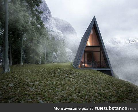 A-frame cliff dwelling