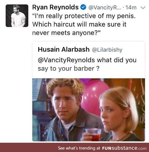 Take a bow Ryan Reynolds