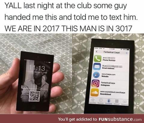 You'd better text him