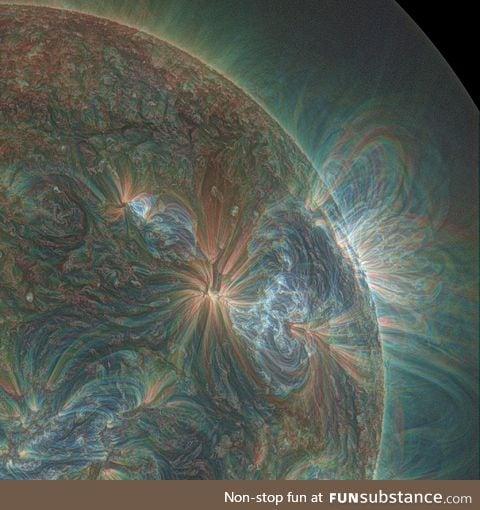 The sun, shot in UV