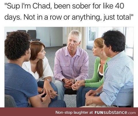 Sober for 40 days