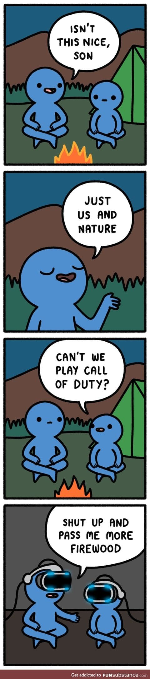 you can camp on CoD too