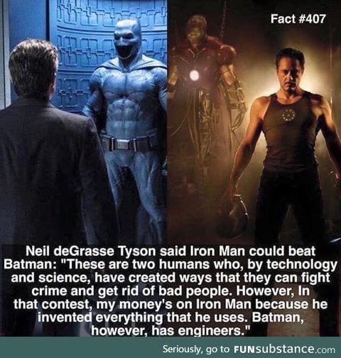 Neil deGrasse Tyson votes for Iron Man