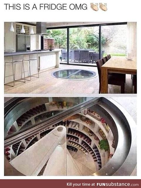 Amazing underground fridge