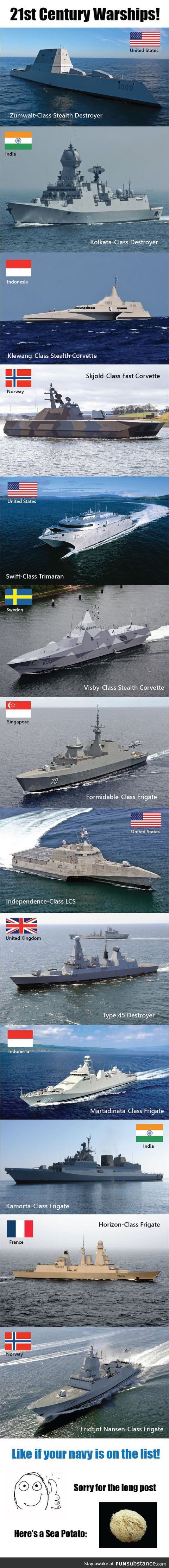 21st Century Warships from Around the Globe!