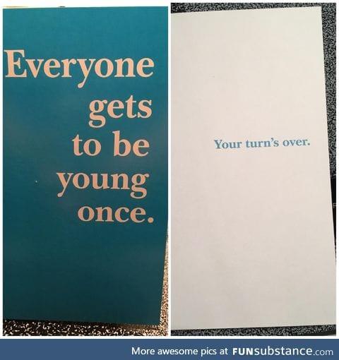 My new favorite birthday card