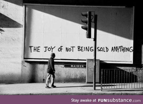 Empty billboard graffiti