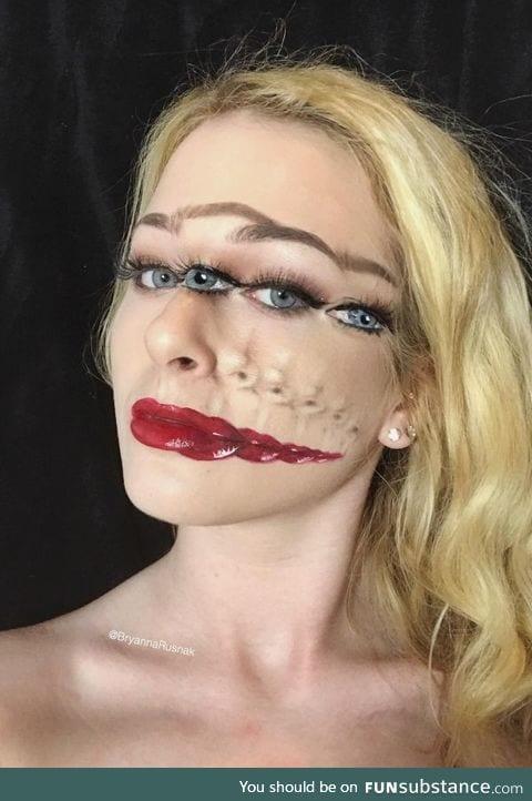 Trippy makeup art