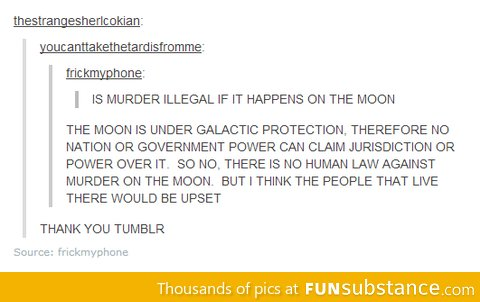 Murder on the moon