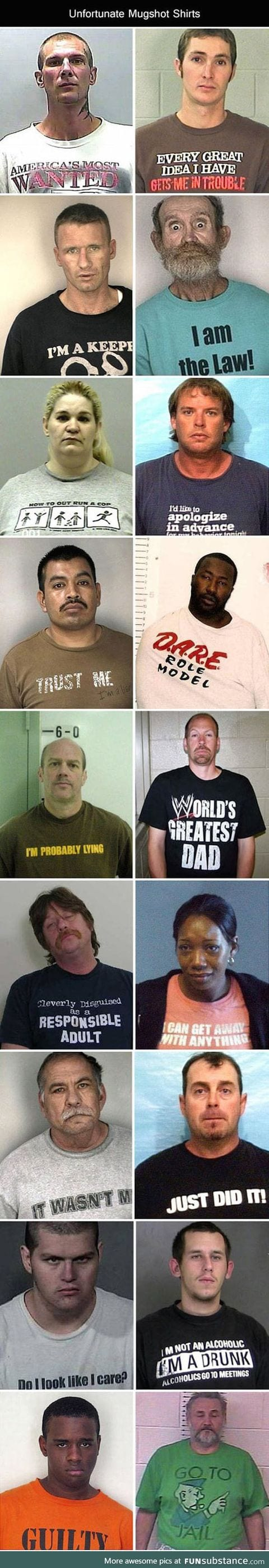 Funny t-shirts at the mugshots