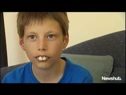 New Zealander's help kid with buck teeth