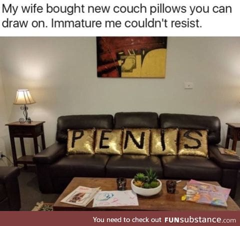 Drawable couch pillows