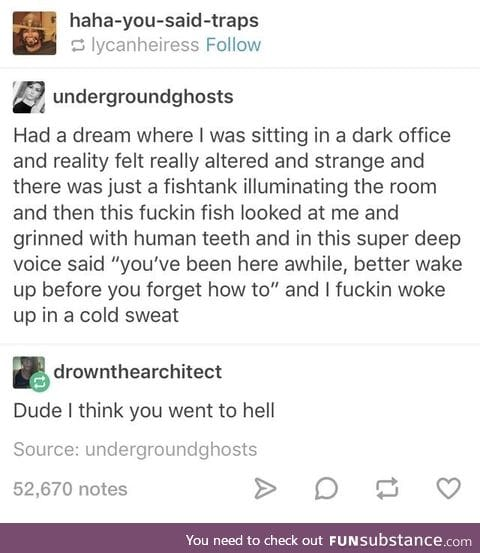 Lemme hear about your weird dreams in the comments