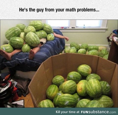 Sam bought a thousand watermelons