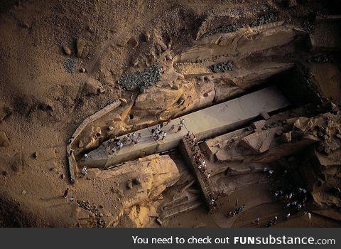 3,500-year-old unfinished obelisk in Egypt