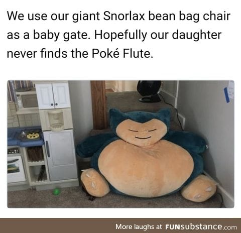 The Snorlax baby barrier