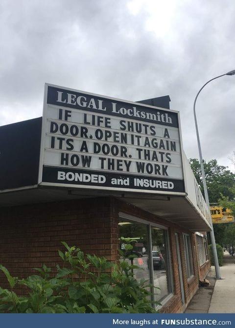 That's a good wisdom