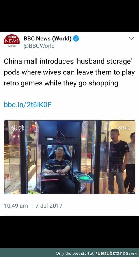 That's it, moving to China