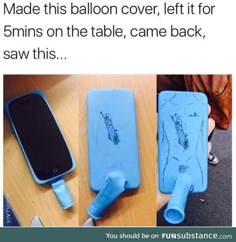 Creative phone balloon cover case