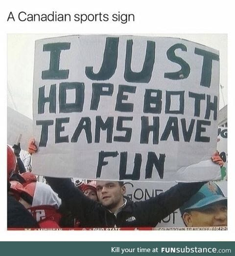 Canadian sports sign