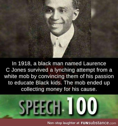 Laurence C Jones saved himself