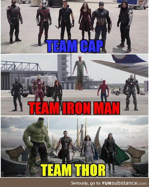 The Big Three and their teams