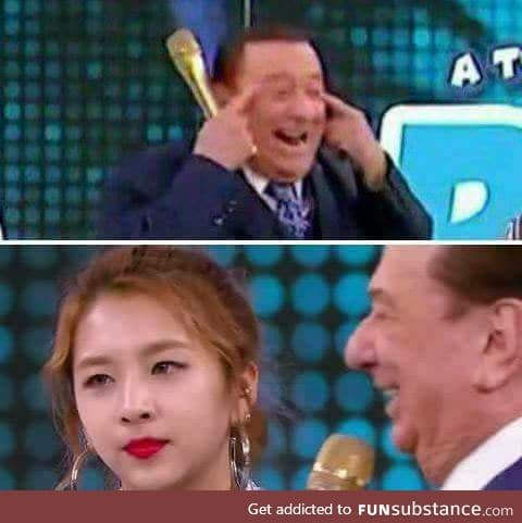 Korean girl goes to brazilian TV show