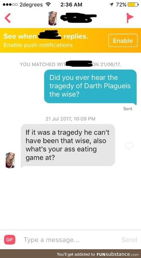 Have you heard the tragedy of ass eating